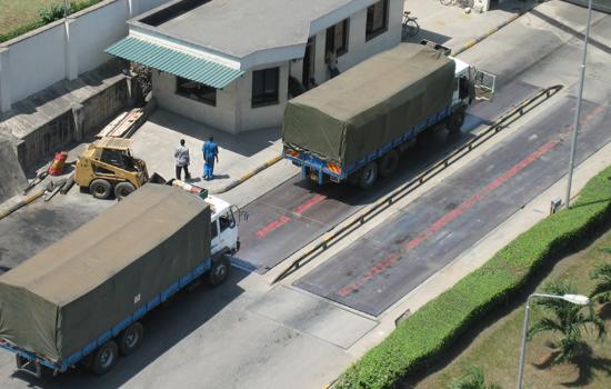 Trucks Being Weighed